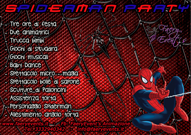 SPIDERMAN-PARTY
